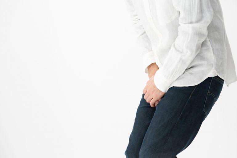 血尿による尿の濁り